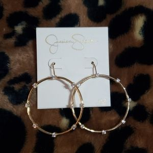 Jessica simpson gold circle earrings